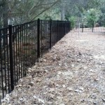 220 Ft of 5 Ft 3-rail Black Aluminum Fence